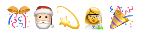 emoticones nouvelle annee labeo