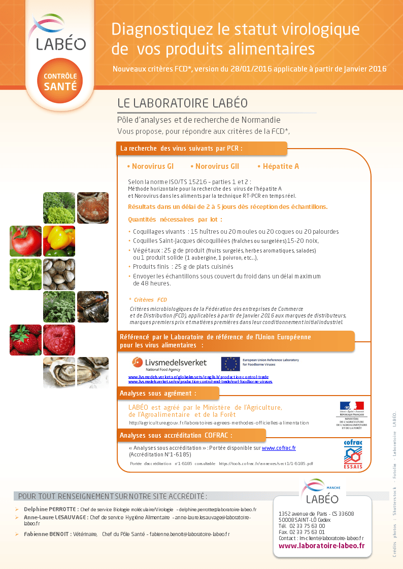 Virus FCD alimentaire